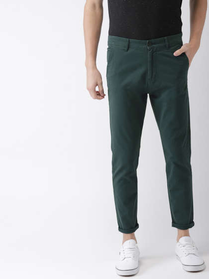 Green Trousers - Buy Green Trousers online in India