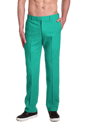 Men's Aqua Green Pants | Mens Green Pant | Dress Trousers
