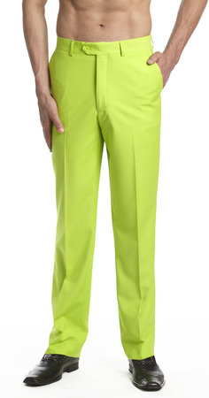 Men's Lime Green Dress Pants | Mint Color Trousers