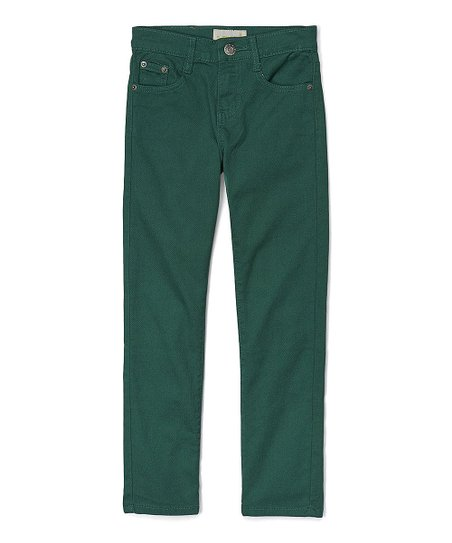 Daniel L Grass Green Pants - Boys | Zulily