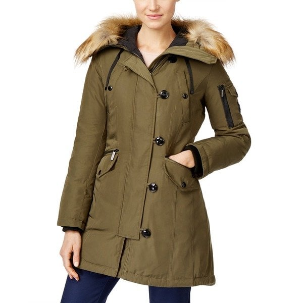 Shop Michael Kors Olive Green Down Parka - Free Shipping Today