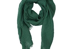 Green Scarf | 100% Linen Scarf | Scarves For Women | Mens Scarf