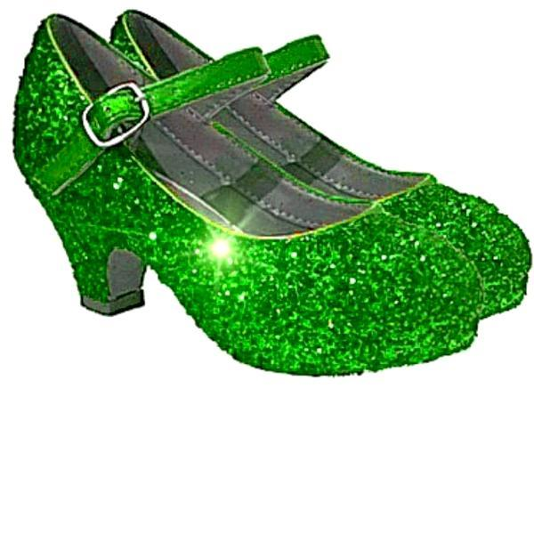 Sparkly Glitter Heels Flower Girls Birthday Pageant Shoes Lime Green