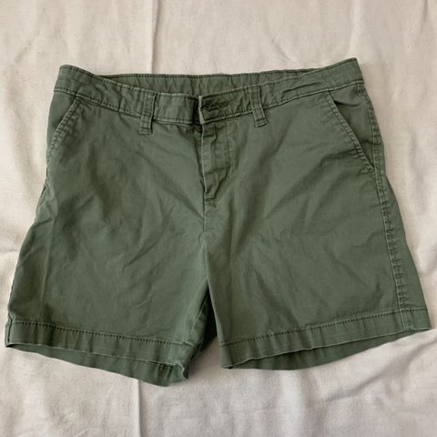Light small olive green shorts; used many times, but still - Depop