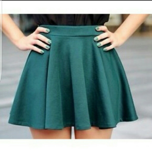 Forever 21 Skirts | Forest Green Skirt | Poshmark