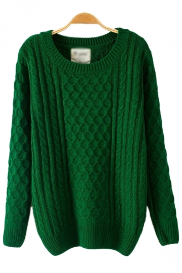 Batwing Sleeved Net Green Sweaters Sweater Coats For Women