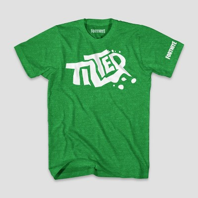 Boys' Fortnite Tilted Logo Short Sleeve T-Shirt - Green Heather : Target