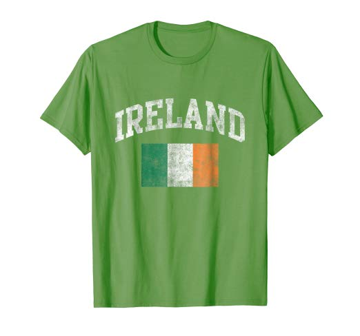 Amazon.com: Vintage Ireland Irish Flag Green St. Patrick's Day T