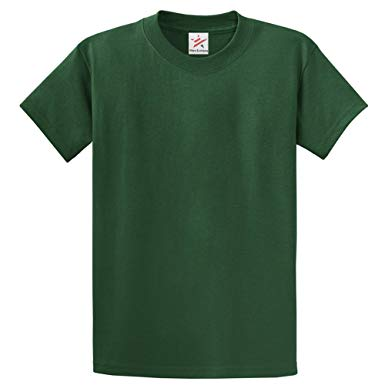 Plain BOTTLE GREEN T Shirt 100% rich soft ORGANIC cotton BOTTLE