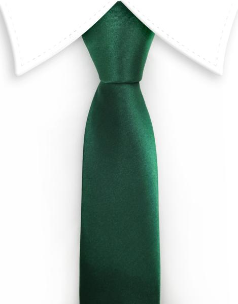 Dark Green Satin Skinny Tie u2013 GentlemanJoe