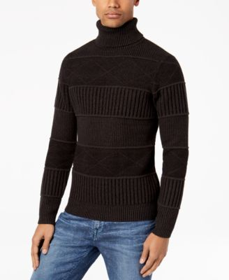 GUESS Men's Mix-Stitch Turtleneck Sweater - Sweaters - Men - Macy's