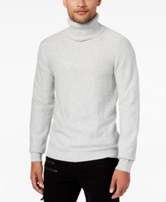GUESS Men's Reverse Jersey-Knit Turtleneck Sweater - Sweaters - Men