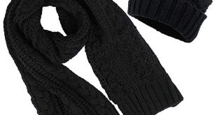 Women's Scarf and Hat 2pcs Set Knitted Warm Skullcaps Thicken Beanie