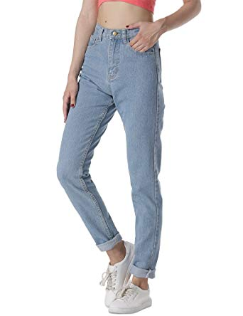 cunlin High Waist Jeans for Women Denim Pants Mom Jeans High Waisted