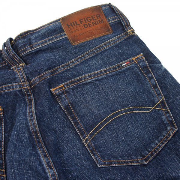 Buy Hilfiger Denim Mens Wilson Jeans LA Mid Blue Rigid|Hilfiger Denim