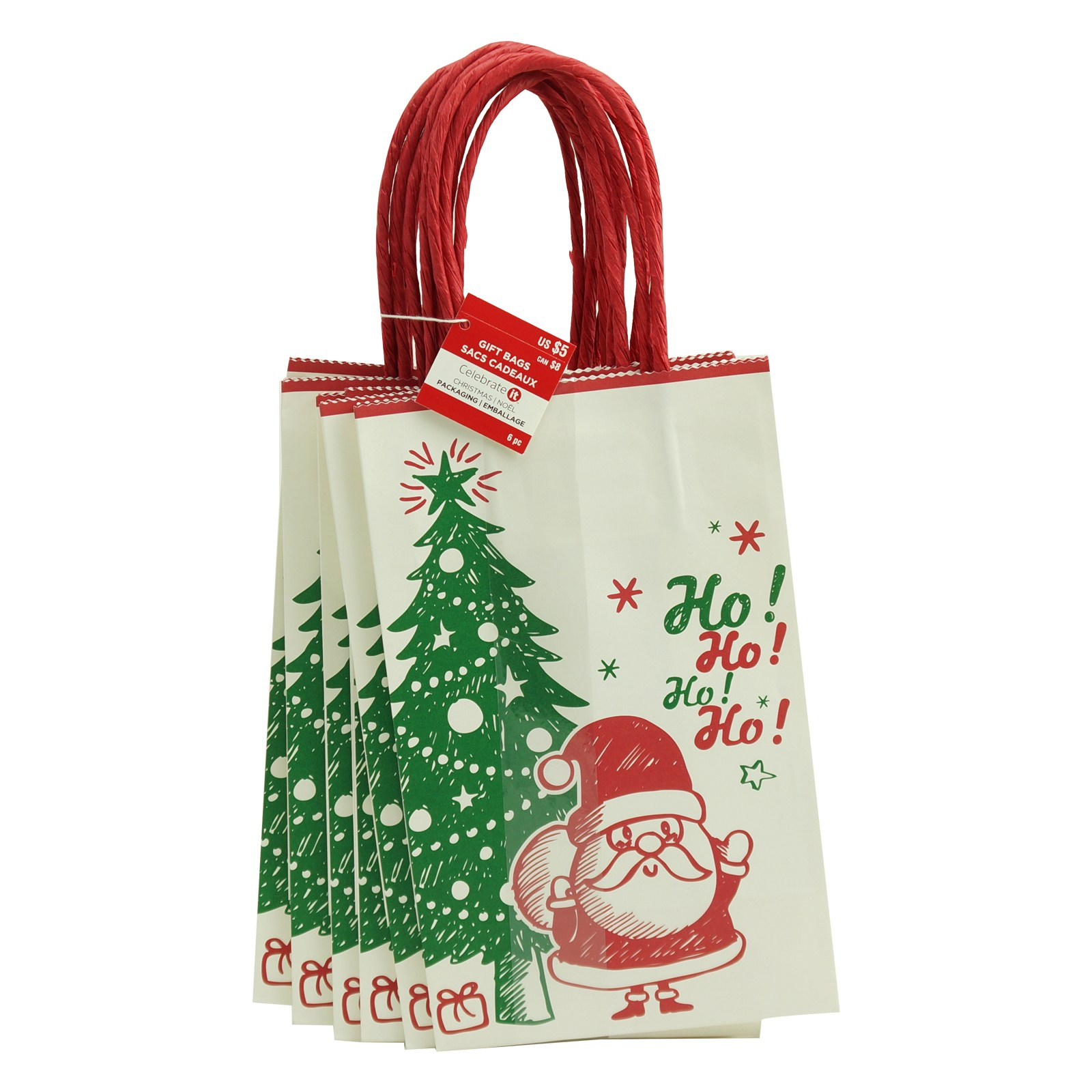 Shop for the Santa Ho Ho Ho Small Bags by Celebrate It™ at Michaels