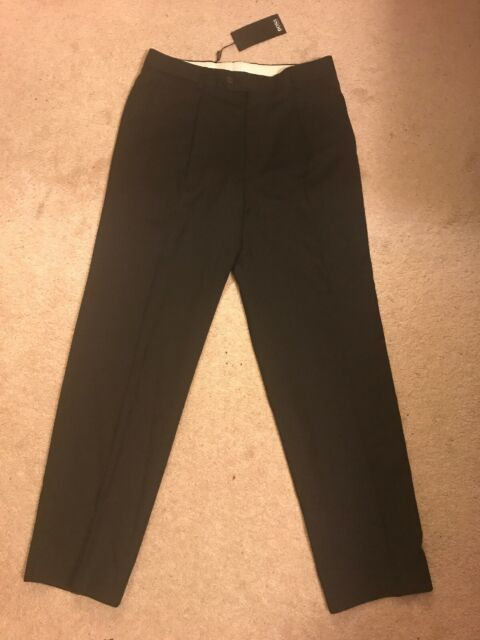 Men's Hugo Boss Parker-x Black Virgin Wool Dress Pants Size 48 or 32