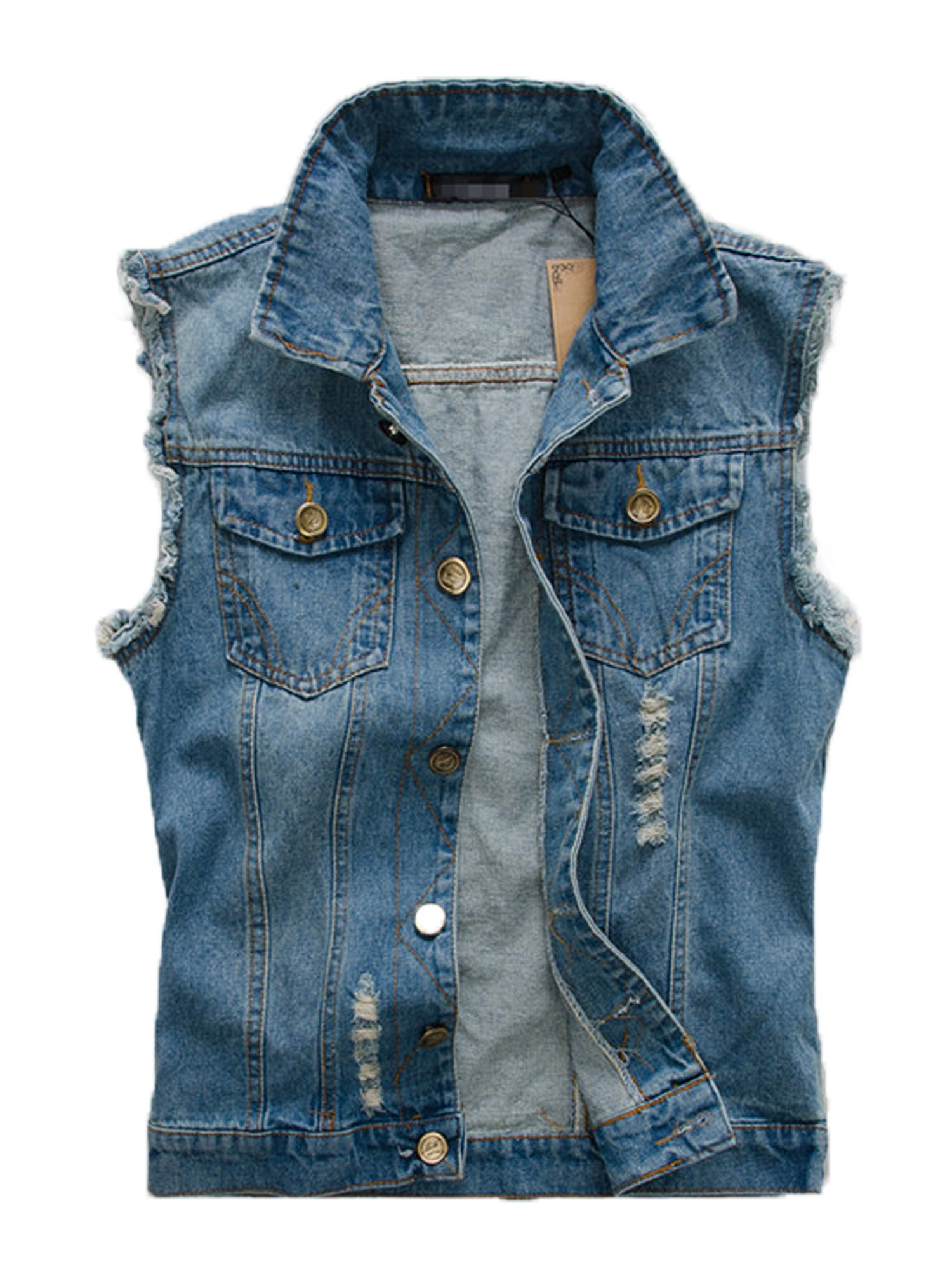 AMTIFY - Mens Denim Vest - Walmart.com