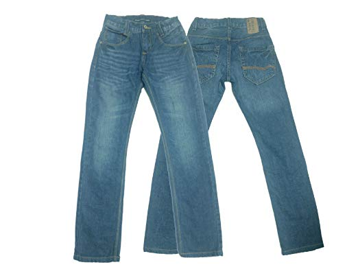 C&A Quality Boys Kids Classic Jeans Cotton Faded Blue Wash Trousers
