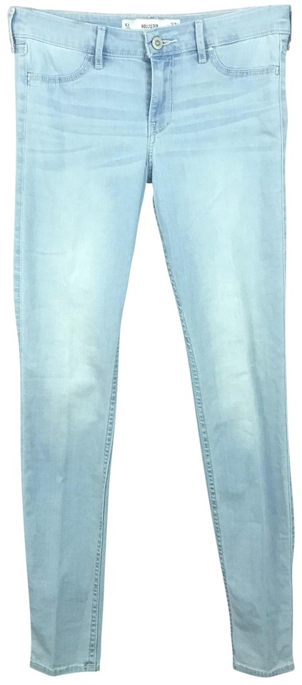 Hollister Light Blue Wash Leggings W L 31 Skinny Jeans Size 27 (4, S