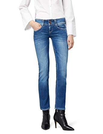 Amazon.com: Pepe Jeans Womens Gen Straight Jeans Blue Size 28 Length