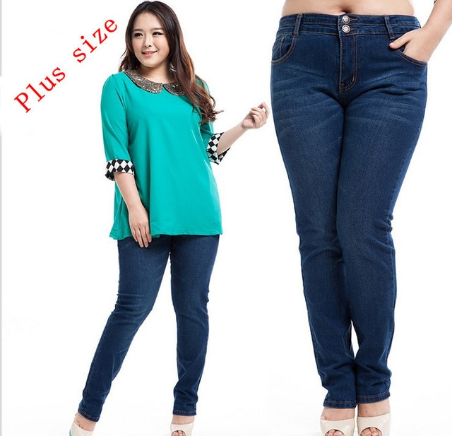 big girl fat jeans plus size mid waist demin pants size 30 40 free