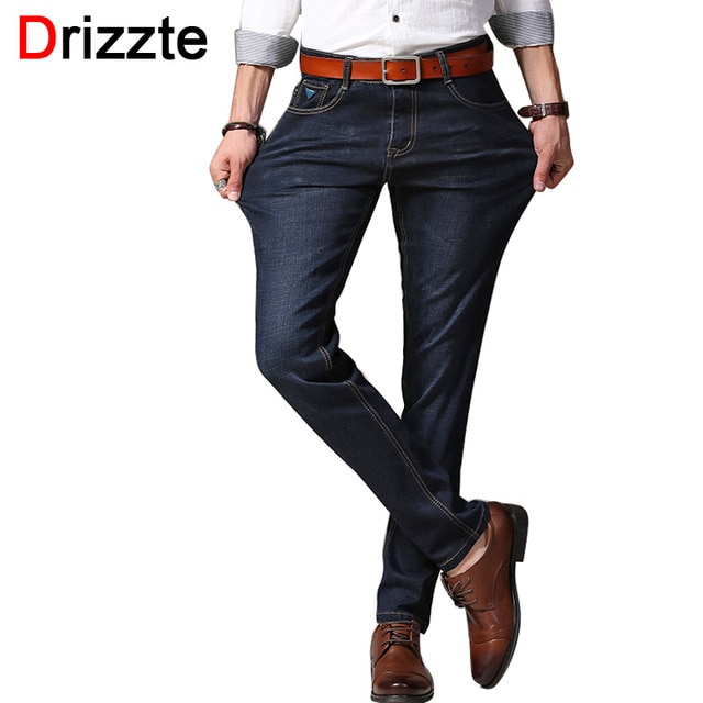 Drizzte Brand Jeans Men Pants Fashion Stretch Denim Size 30 31 32 33