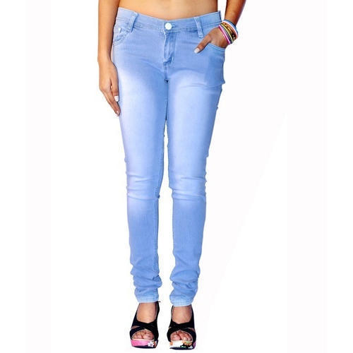 Regular Fit Casual Wear Ladies Stylish Jeans, Waist Size: 32 And 34