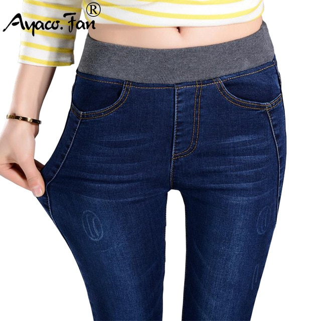 2019 Women's Jeans New Female Casual Elastic Waist Stretch Jeans
