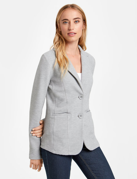 Jersey blazer with a ribbed texture buy now | TAIFUN