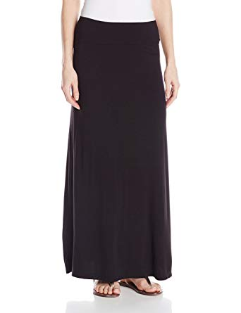 Kensie Women's Lightweight Jersey Maxi Skirt at Amazon Women's