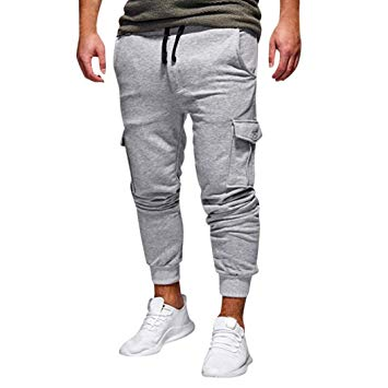Men Drawstring Pants, Vanvler Male Loose Sweatpants -Harem Pants