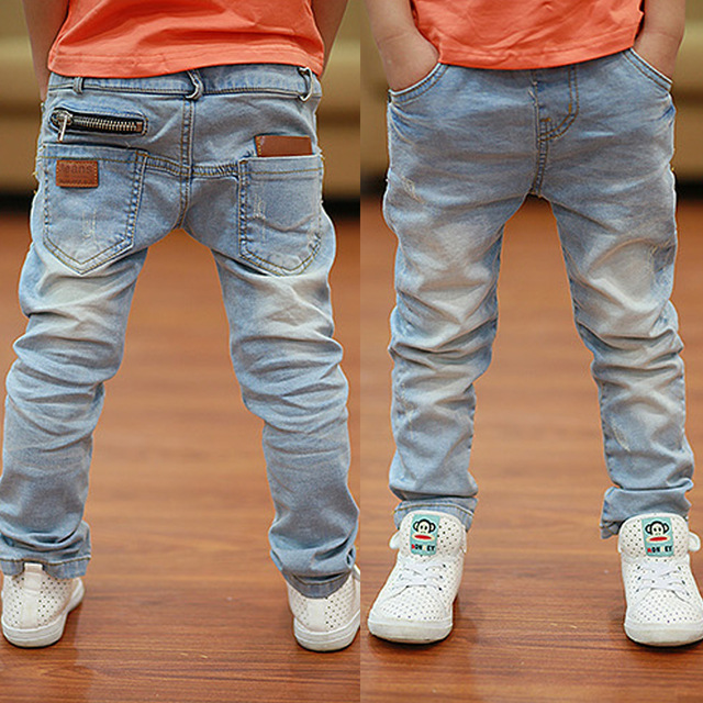 Kids Pants Big Boys Stretch Joker Jeans 2019 Spring Children Pencil