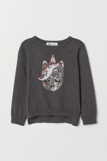 H & M - Jumper with sequins - Grey | £6.00 | Brent Cross