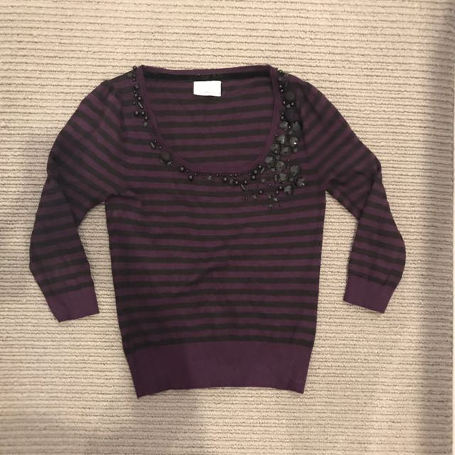 Review jumper with sequins size small, Women's Fashion, Clothes on