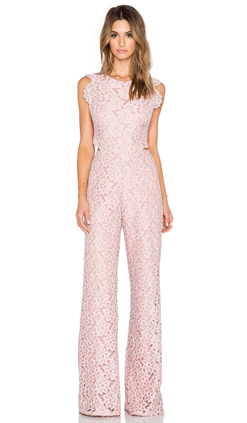 Alexis Livia Lace Jumpsuit in Pink Lace | REVOLVE