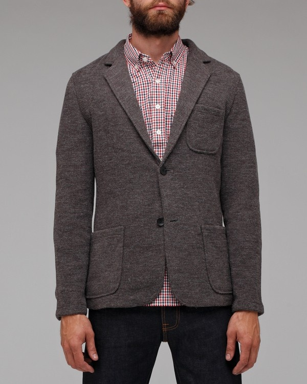 Shades of Grey Two Button Knit Blazer | Suitored