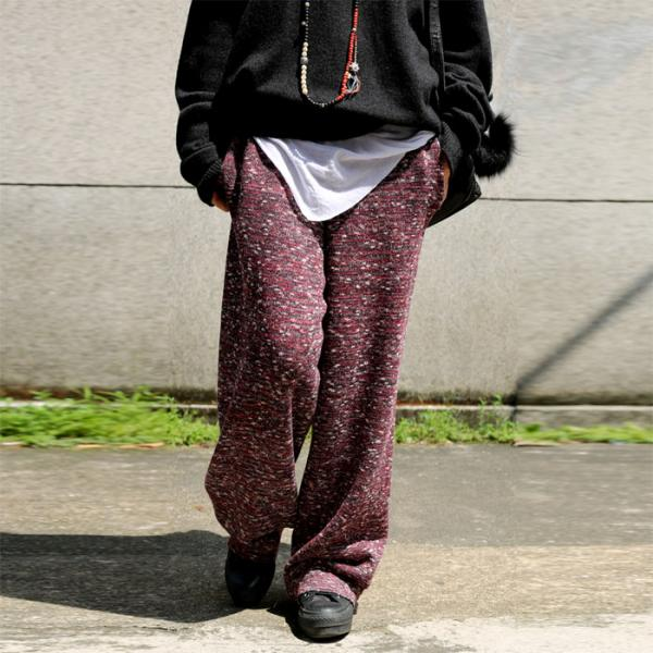 Best-Selling Knitted Baggy Pants Vintage Folk Trousers - Morimiss.com