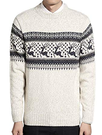 Lavnis Pollover Crewneck Knitted Sweater Long Sleeve Christmas