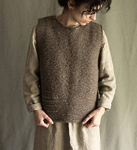 Amazon.com: Thick brown hand knitted vest: Handmade