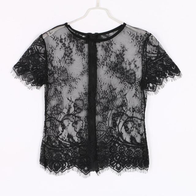 Women's Fashion Designer Transparent Laced T-Shirts u2013 International