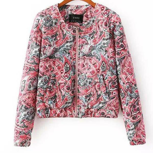 Floral Printed Ladies Jackets Spring Winter Women Coats And Jackets