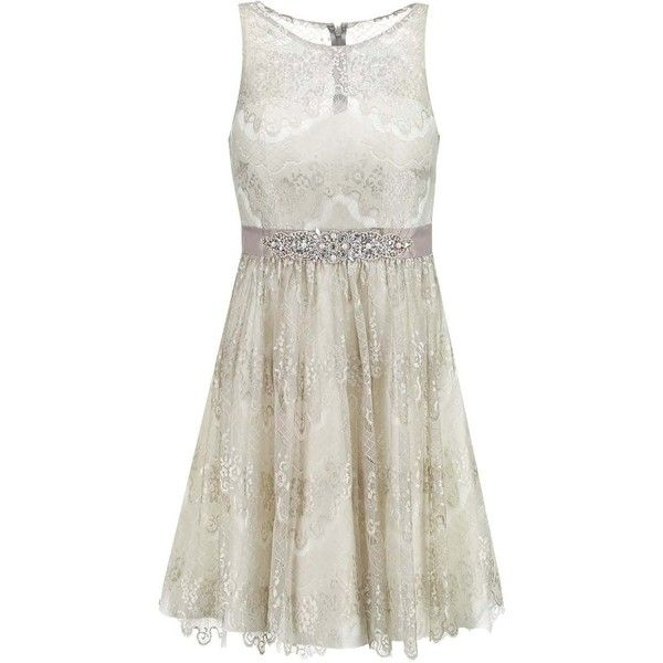 Laona Cocktail dress Party dress dune/cream white ❤ liked on