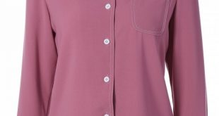 2018 Single-Breasted Lapel Collar Shirt In WINE RED L | ZAFUL