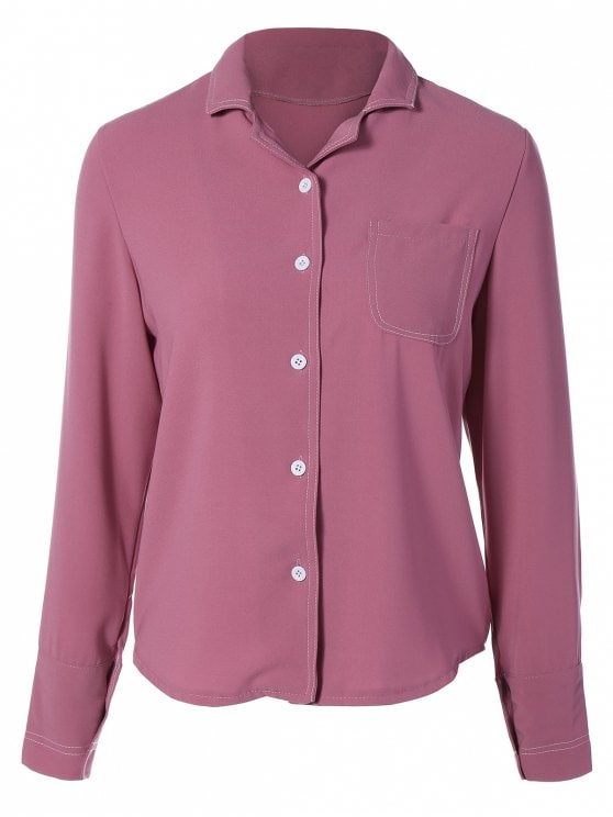 Lapel collar tops