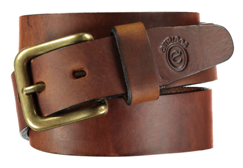 Plain Tobacco Stirrup Leather Belt - Home of the Original Estribos