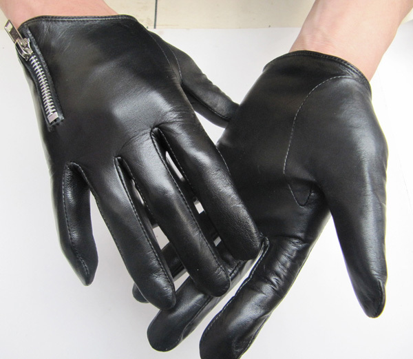 Leather gloves male thin unisex motorcycle autumn and winter thermal