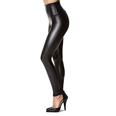 Amazon.com: Women's Stretchy Faux Leather Leggings Pants, Sexy Black