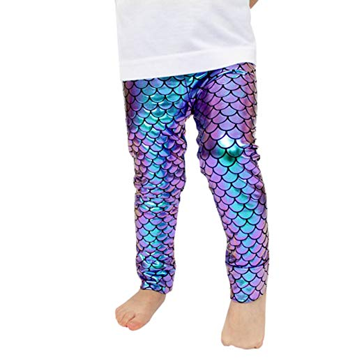 Amazon.com: Kids Baby Girls Mermaid Fish Stretch Long Leggings Tight
