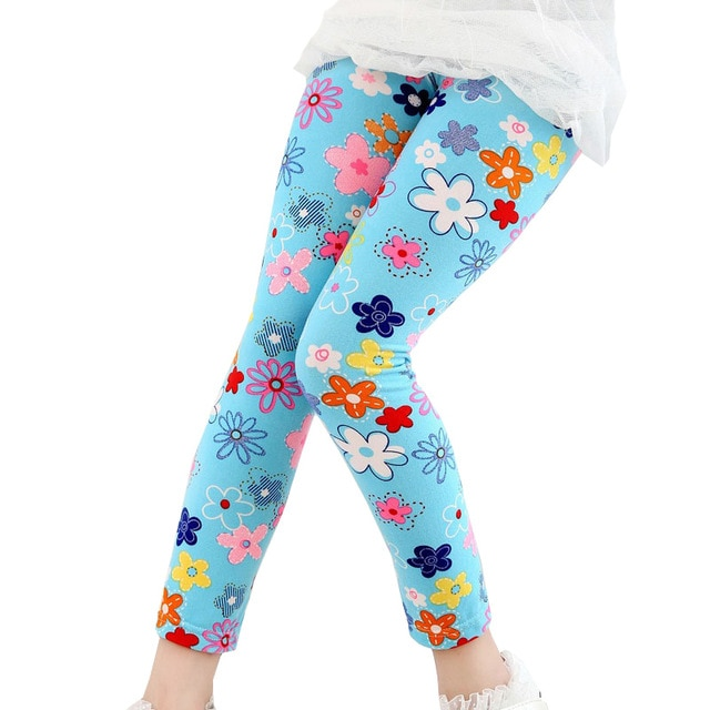 flower design 2018 spring girls leggings kids cute butterfly legging